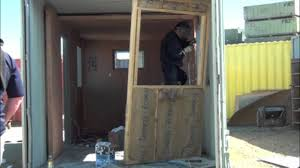 100 Shipping Containers Converted Container Office Conversion YouTube
