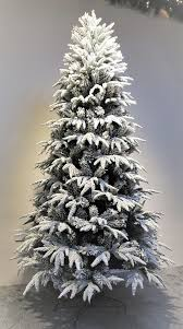 6ft Slim Black Christmas Tree by 6ft Pre Lit Snowy Alpine Tree Warm White