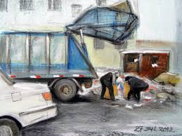 100 Garbage Truck Song Artist At Heart Oil Pastels Truck In Ulaanbaatar 27th