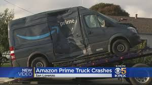100 Fire Truck Pics Amazon Van Flips Over After Colliding With CBS San