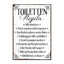 holzschild mit spruch toiletten regeln shabby chic retro