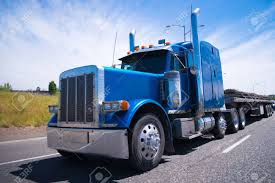 100 Big Truck Chrome Classic Blue Bonneted Rig Semi With Accessories