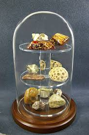 Rock Globe Shelf Display Case