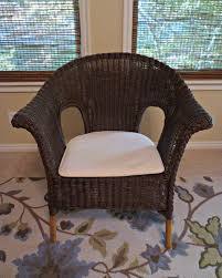 Painted Wicker Chair DIY Makeover Salt Lick Lessons