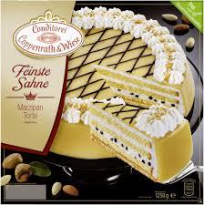 feinste sahne torte marzipan tiefgekühlt