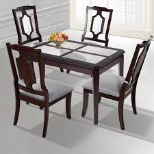 Charming Dark Brown Solid Wood Dining Table Room Fully ...