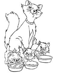 Cat And Mom A Very Dear Family Coloring For Kids