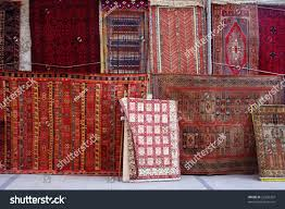 Stacks Of Rugs In A Turkish Carpet Shop