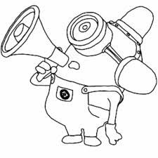 Coloring Pages Simple Minions