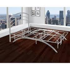 rest rite dome arch full silver metal platform bed frame and