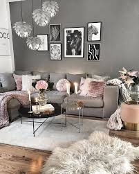 create this gray and pink cozy living room decor decor