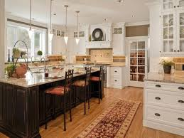Modern Kitchen Island Design Ikea Barstools To Dark Brown Accents New York Traditional Metal Gas Stove Symmetrical Wall Mounted Wooden Cabinets
