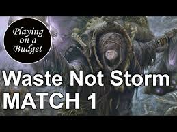 mtg modern waste not storm vs ad nauseam playing on a budget