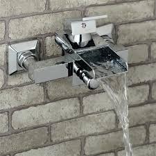 2018 real new chuveiro eletrico frap badezimmer dusche wasserhahn chrom wand halterung messing silber armaturen badewanne mischbatterie wasserfall