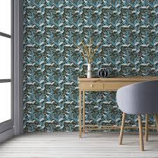 tropische birds tapete mit dschungel vögeln braun blaue vlies tapete blumentapete für wohnzimmer