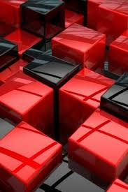 Black and Red Cubes Red & Black Pinterest