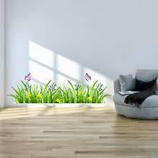 details zu wandtattoo grüne wiese wandaufkleber wandsticker blumenwiese wohnzimmer deko