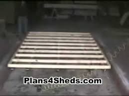 Cheap Shed Floor Ideas by How To Build A Shed Floor Youtube