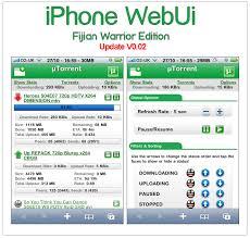 iPhone uTorrent WebUI Fijian Warrior Edition