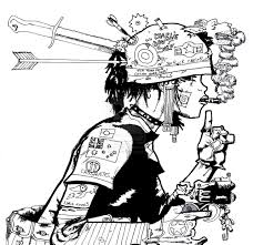 Tank Girl Coloring Page
