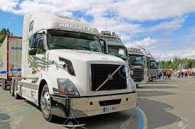 HAMEENLINNA, FINLAND - JULY 11, 2015: White Volvo VNL 64T 670 ... Deer Guard Volvo Vnl 042016 Grill Bumper Protector Stainless Steel Trucks North America New Vnx Series Built Dangerous Goods Sign On The Bumper Of A Truck Stock Photo Vhd Axle Back Sleeper Cab Tractor Truck 2000 3d Model Hum3d Bbc Autos Make Way For Worlds Faest 1998 Vn Semi Sale Sold At Auction June 26 2014 Only 71800 Fast Delivery Hameenlinna Finland July 11 2015 White 64t 670 Fmx Rugged Design Syria 2013 Used Vnl670 Premier Group Serving Usa Canada