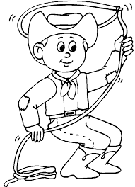 Cowboy Coloring Pages 17