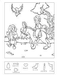 Full Image For Good Samaritan Coloring Page Preschoolers Hidden Puzzle Bible
