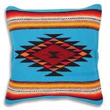 El Paso Designs Serape Throw Pillow Covers 18 X 18 Hand Woven in Southwest