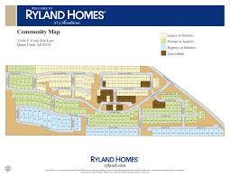 Ryland Homes Floor Plans Arizona by 4 Bedroom Homes For Sale In La Sentiero Queen Creek Az Your