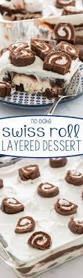 easy no bake dessert recipes swiss roll layered no bake dessert for crust