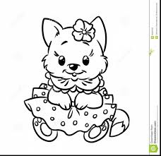 Magnificent Baby Kittens Coloring Pages With Cute Cat And Cartoon