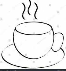 Rhvideoblockscom Coffee Cup Clipart No Background Tea With Smoke Line Drawing Illustration Animation