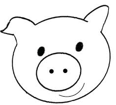 Monkey Face Coloring Pages Smiley Pig Page Cute