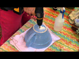 Drilling Through Ceramic Tile by Drilling Holes In Pots Youtube