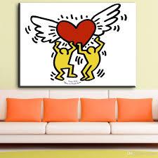 großhandel zz1983 moderne leinwand kunst keith haring liebe kunst leinwand ölgemälde für wohnzimmer schlafzimmer dekoration leinwand kunst ungerahmt