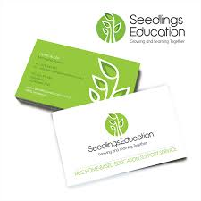 Seedlings Education Logo And Business Card Merge Media East