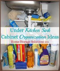 kitchen sink cabinet organization ideas you can use