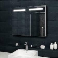 design spiegelschrank mit verdeckter led 100x70 cm mit