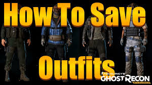 ghost recon wildlands how to change clothes and save my
