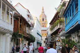 Download Historic Center Of Cartagena A View The Cathedral And Colonial Architecture In
