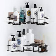 pnnp duschregal eckregal badezimmer regal duschablage ohne bohren rostfrei eckregal metall duschwanne aufkleber für die bad küchenablage