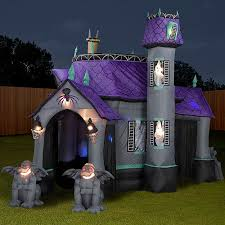 Spooky House Decorations For Halloween Gemmy Inflatable Haunted