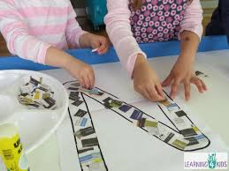 Making A Letter N Collage With Newspaper