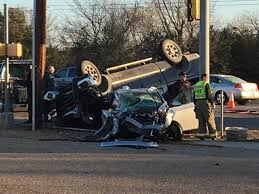 Two Injured After Accident Causes Truck To Partially Flip Over O ...