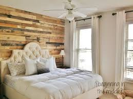 Whitewashed Pallet Wall Wood Accent Bedroom