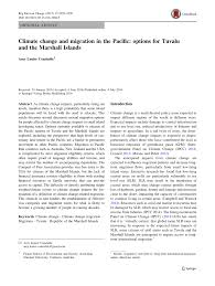 Tuvalu That Sinking Feeling by Climate Change And Migration In The Pacific Options For Tuvalu