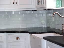 kitchen backsplash blue glass tile subway tile backsplash ideas