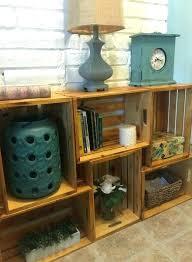 Wooden Crate Shelves Bookcase Bookshelf Wood Intended For
