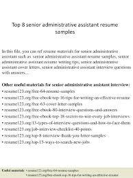 Administrative Assistant Resume Sample Australia Top 8 Senior Samples 1