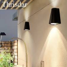 thrisdar 10w modern ip65 waterproof led wall light aluminum